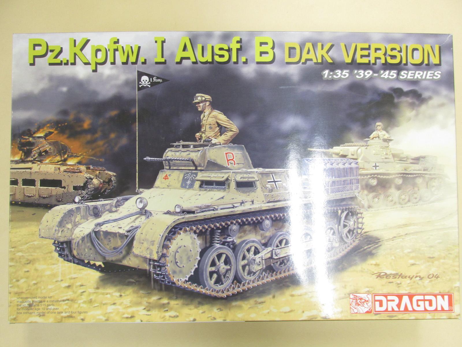 ドラゴン 1/35 ドイツ軍1号戦車B型 DAKバージョン