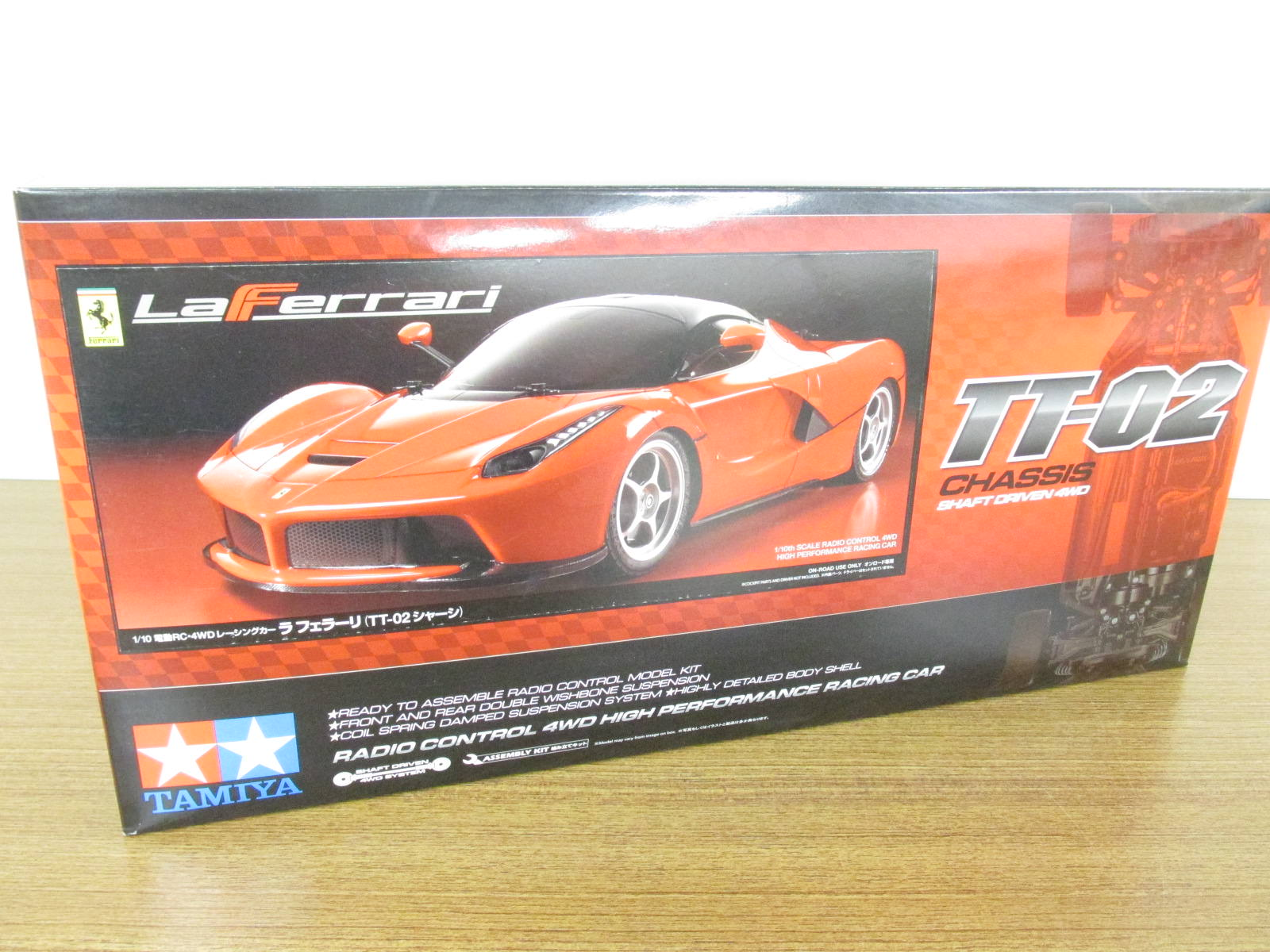 タミヤ 1/10スケール 電動RC4WDレーシングカー ラ フェラーリ (TT-02シャーシ)