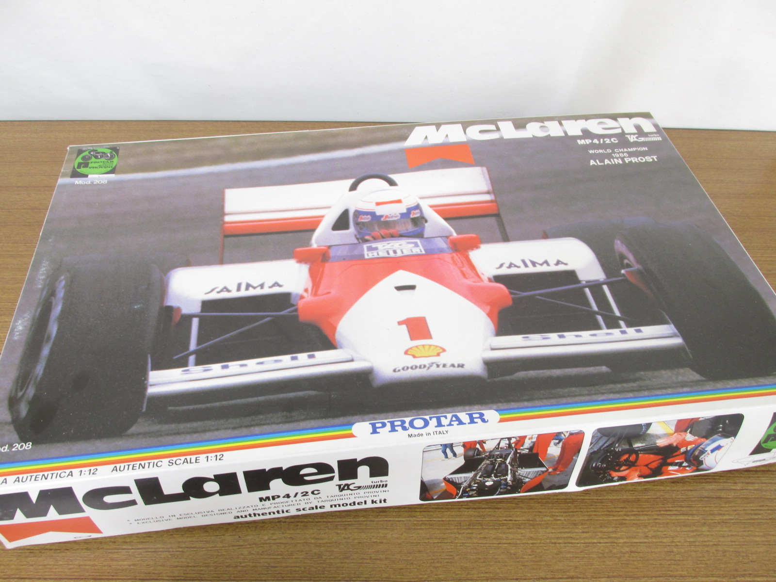 PROTAR 1/12スケール McLaren MP4/2C WORLD CHAMPION 1986 ALAIN PROST