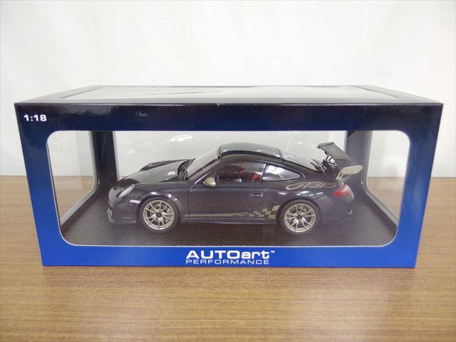 オートアート 1/18スケール ミニカー ポルシェ 911(977) GT3RS 3.8 グレー/ゴールドストライプ
