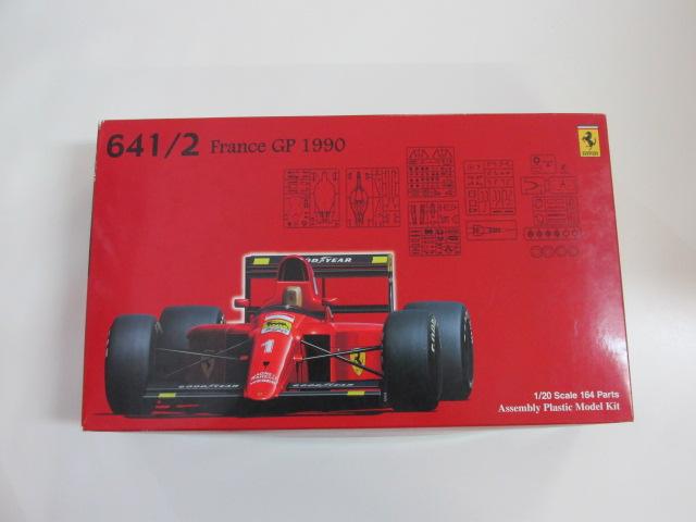 フジミ 1/20スケール プラモデル フェラーリ 641/2 1990年 フランスグランプリ ヘルメット トロフィー付