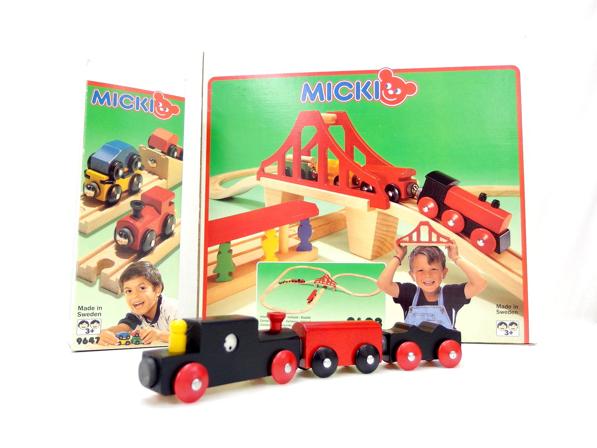 ミッキー社 レールシリーズ スウェーデン製 木のおもちゃ