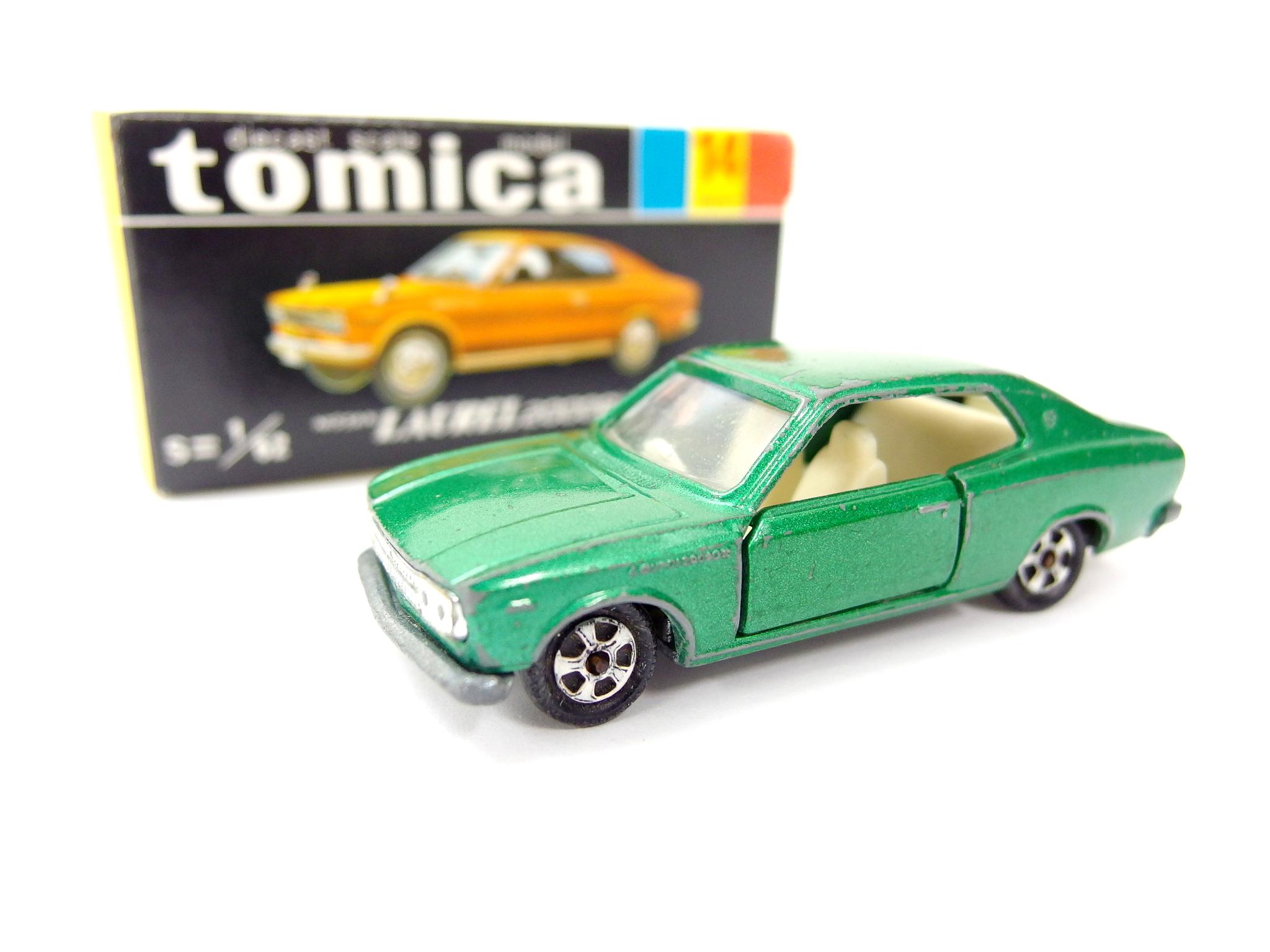 トミカ 14-1-1 日産 ローレル 2000GX グリーンメタル 1Aホイール