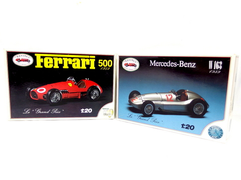 【買取】リバイバル 1/20スケール メルセデス・ベンツ W163 1939 & フェラーリ 500 1952